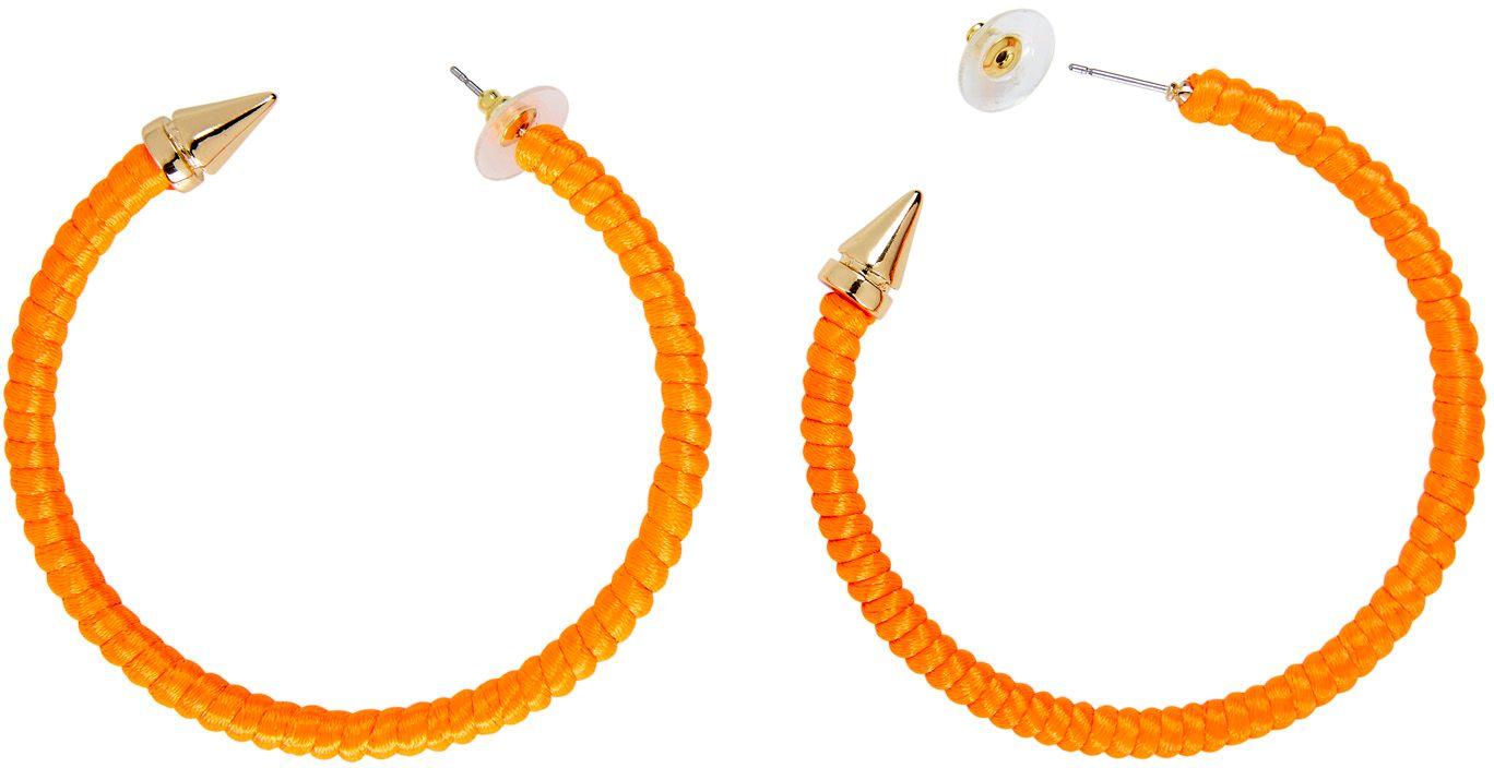 Neon oranje ring oorbellen