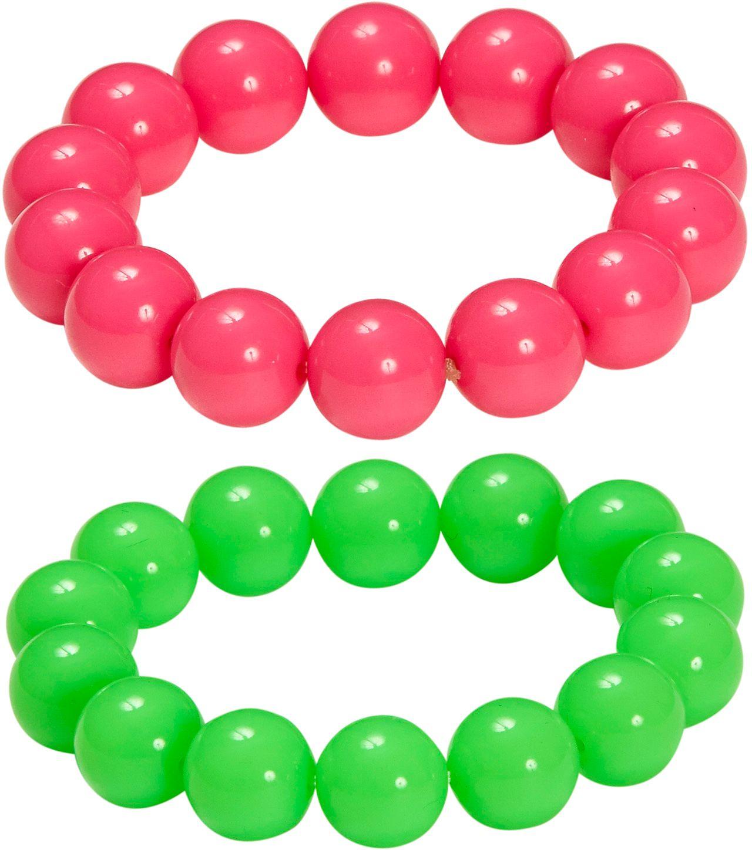 Neon parel armbanden 2 stuks