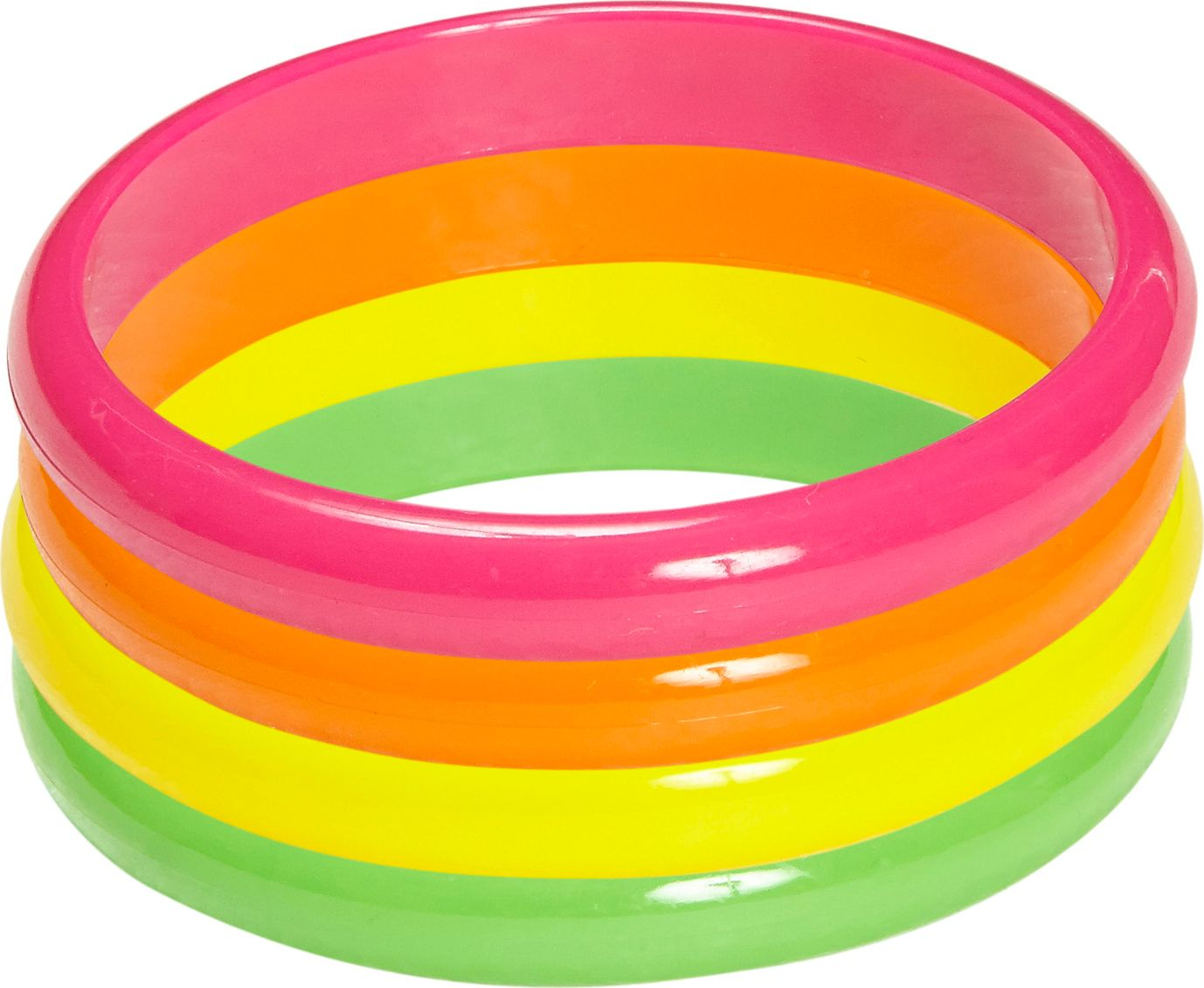 Neon ring armbanden 4 stuks