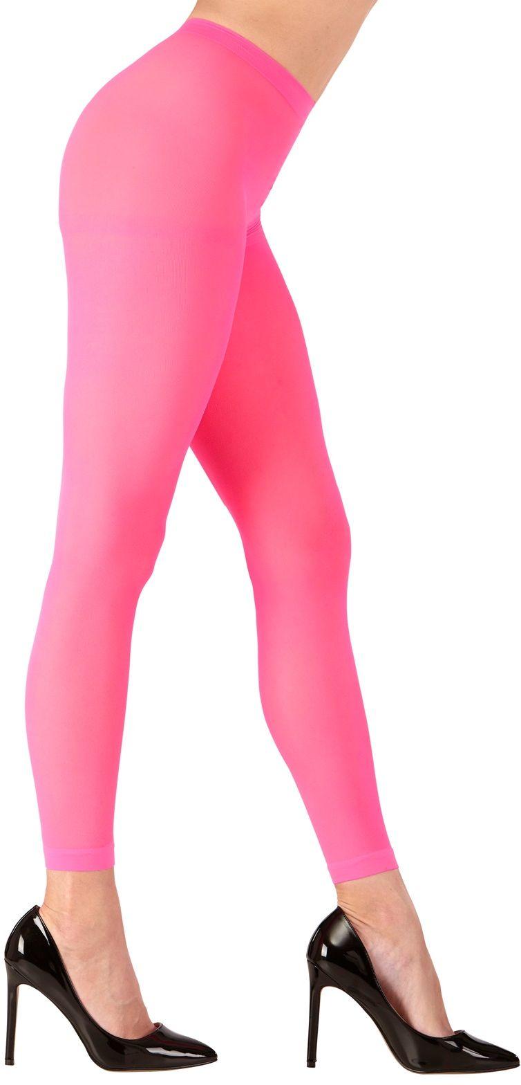 Neon roze legging One-size-volwassenen