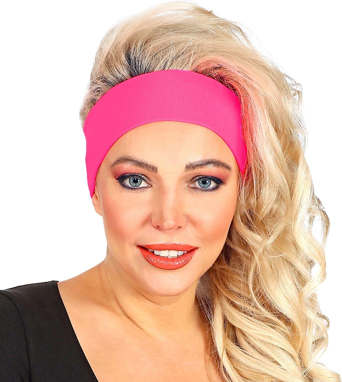 Neon roze retro hoofdband