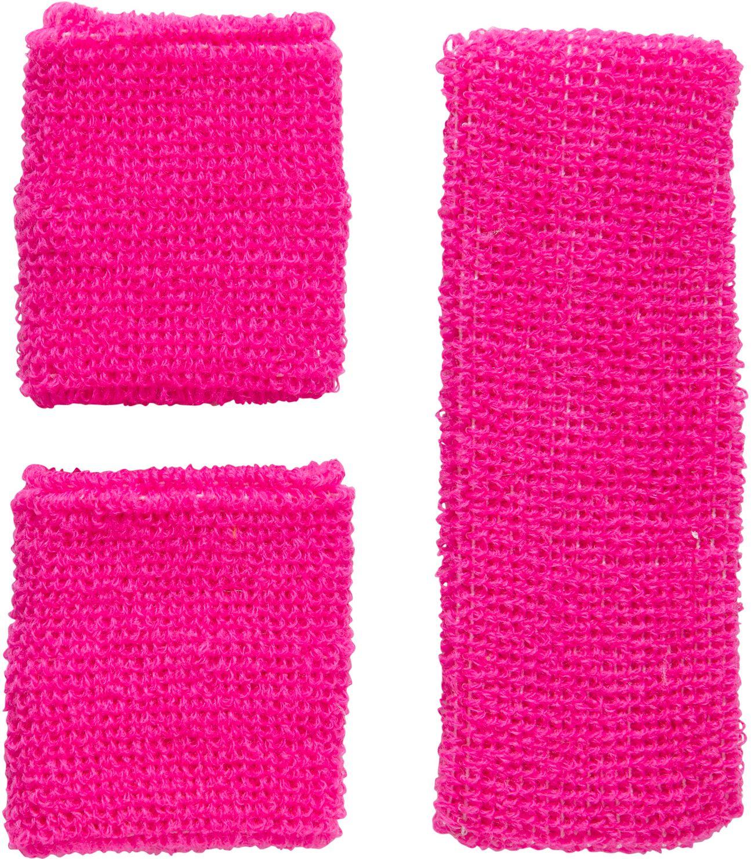 Neon roze zweetband set