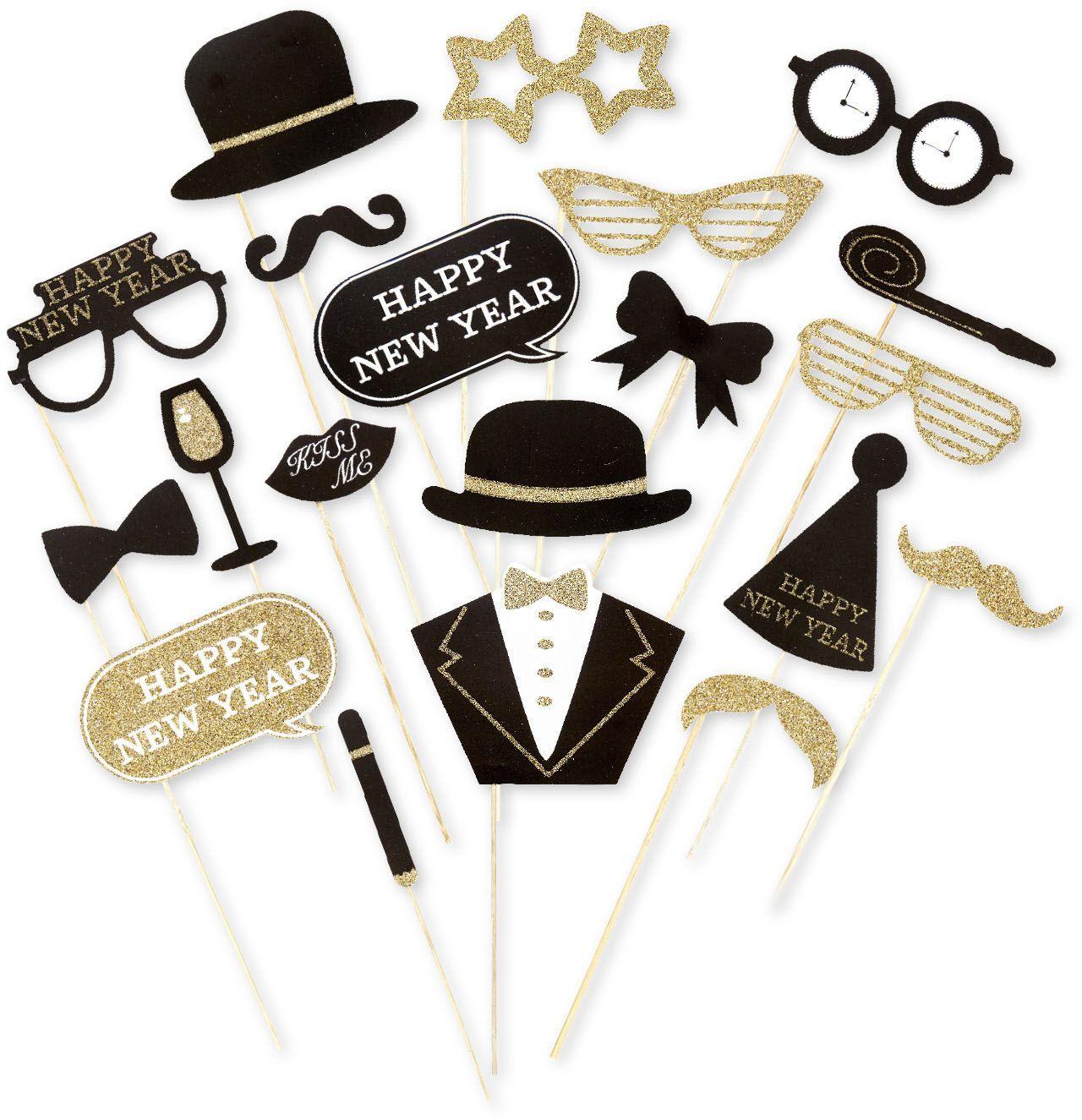 Nieuwjaarsavond foto accessoires