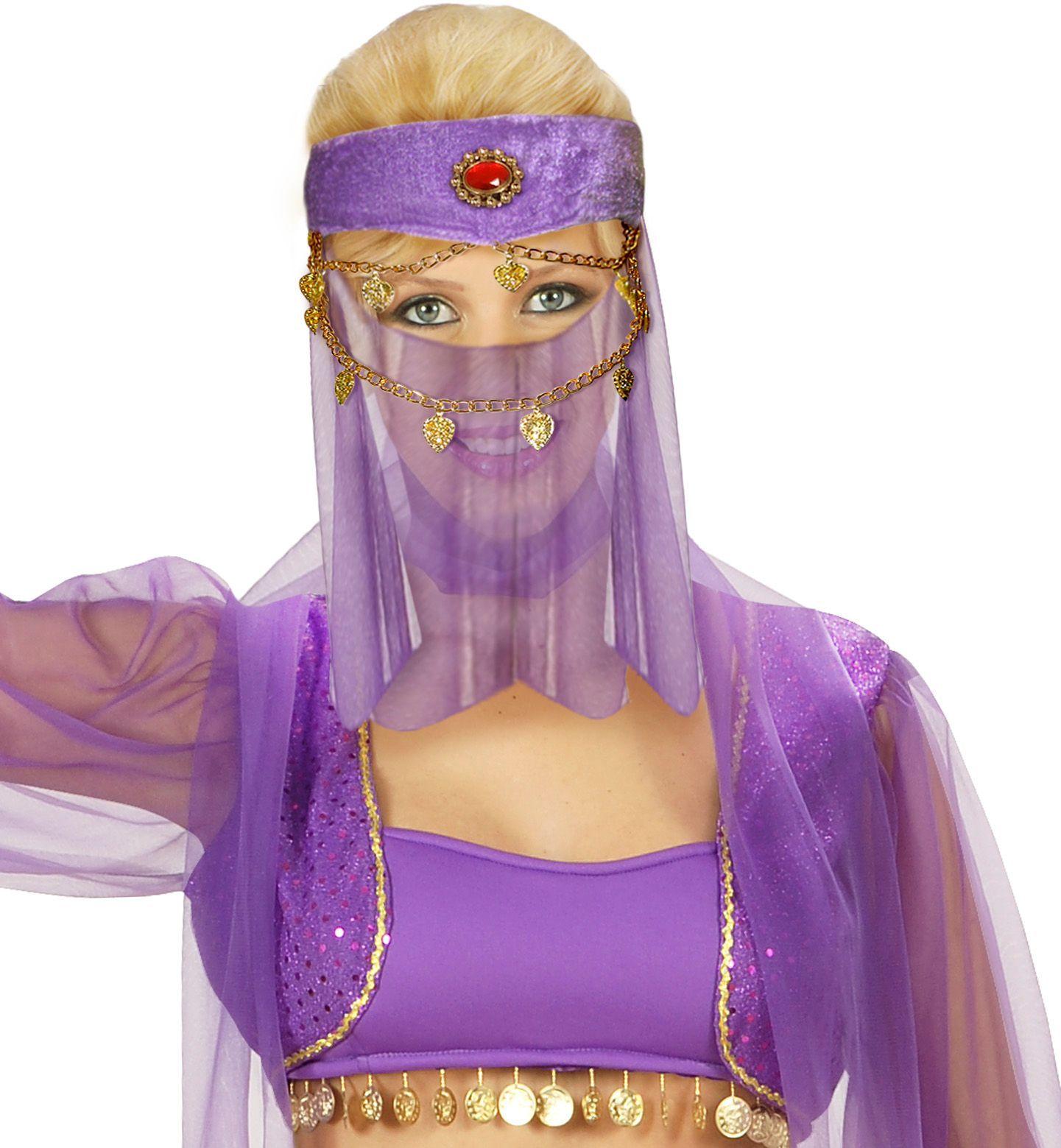 Odalisk harem hoofdband met sluier