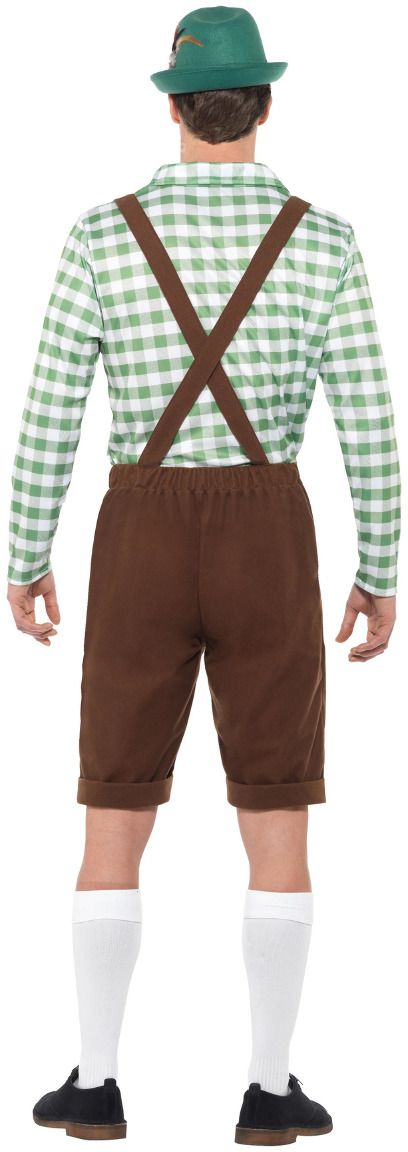 Oktoberfest lederhose heren groen