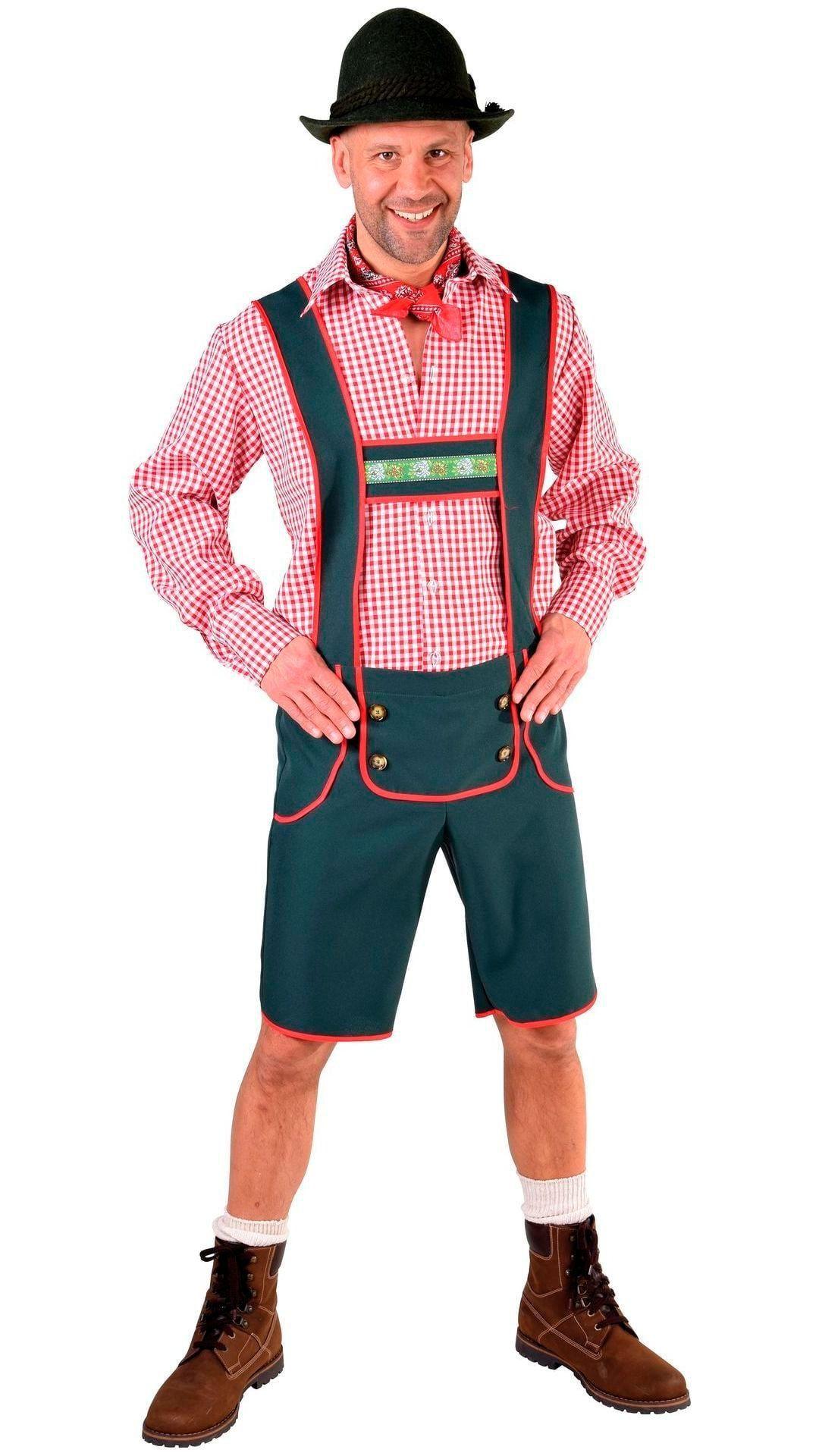 Oktoberfest lederhose man blauw