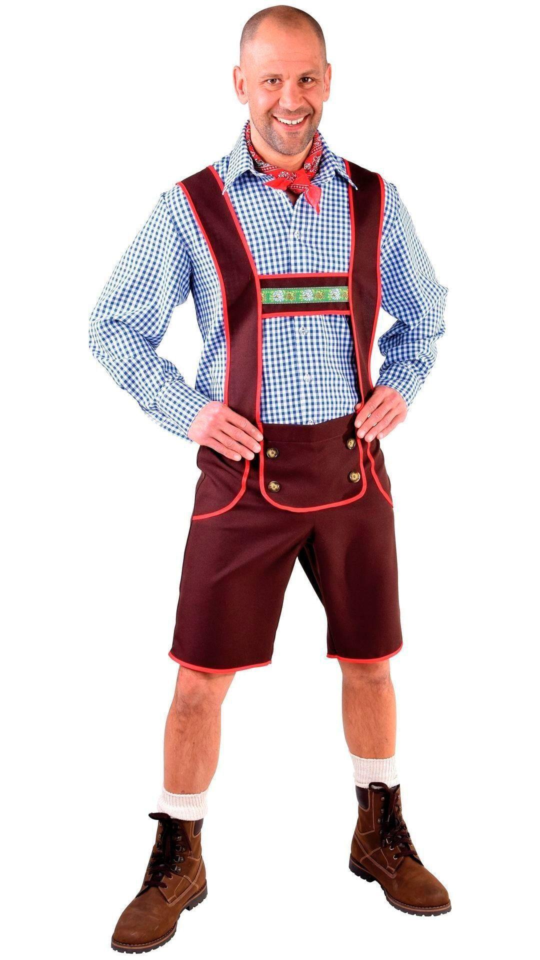 Oktoberfest lederhose man bruin