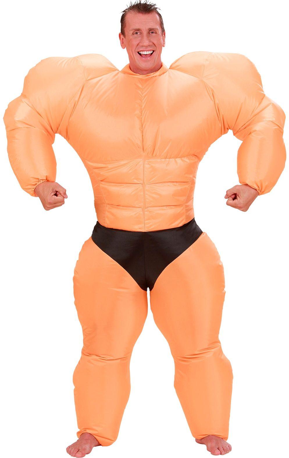 Opblaasbaar bodybuilder kostuum