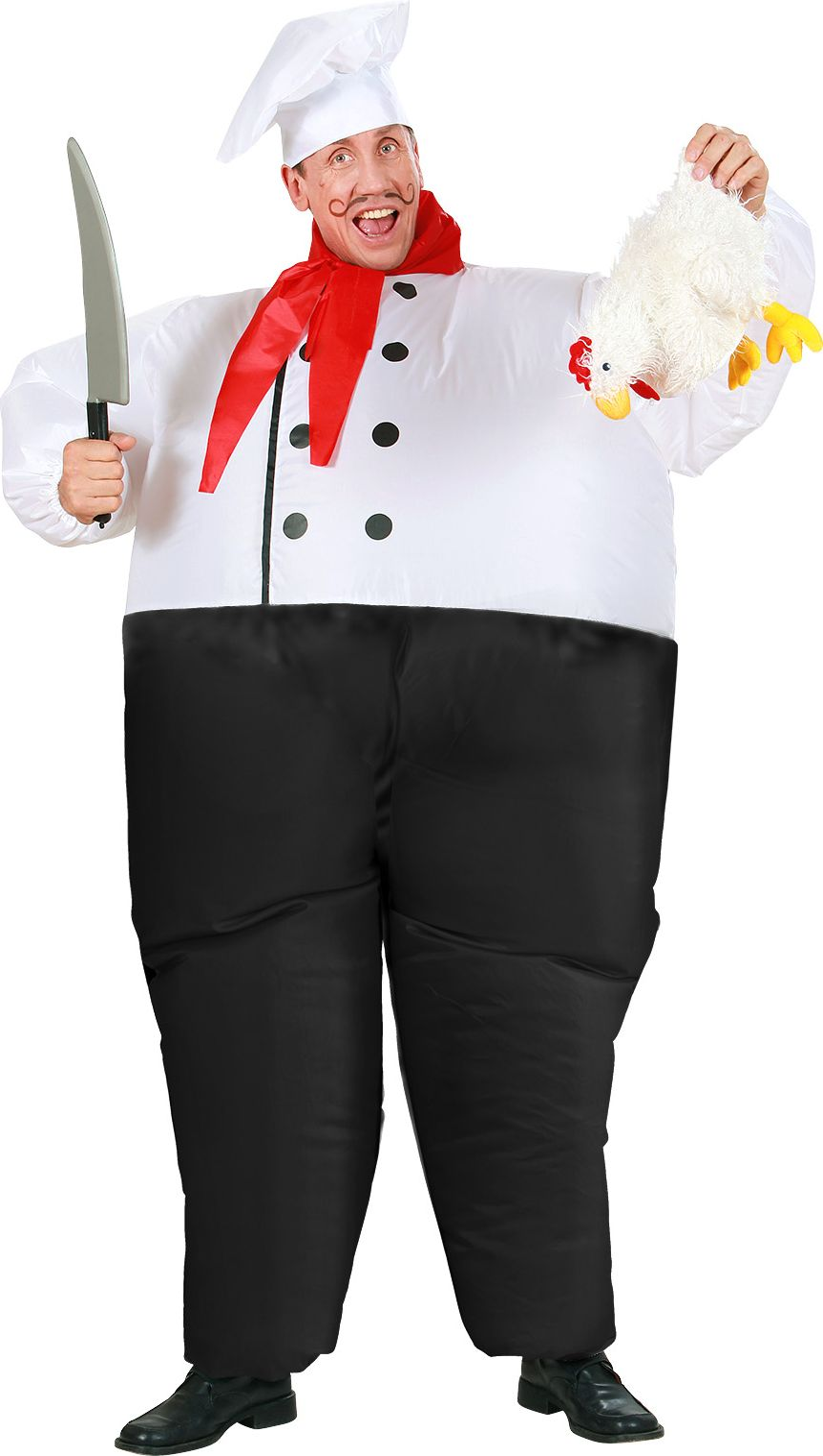 Opblaasbaar chef kok kostuum