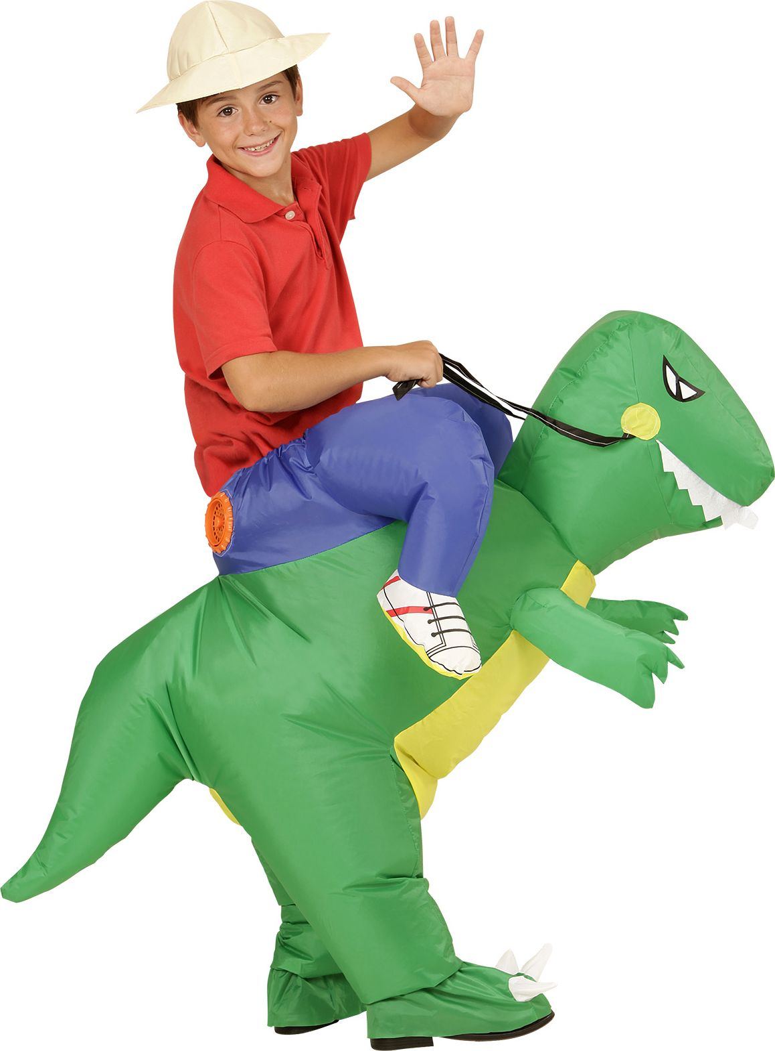 Opblaasbaar dinosaurus kostuum kind