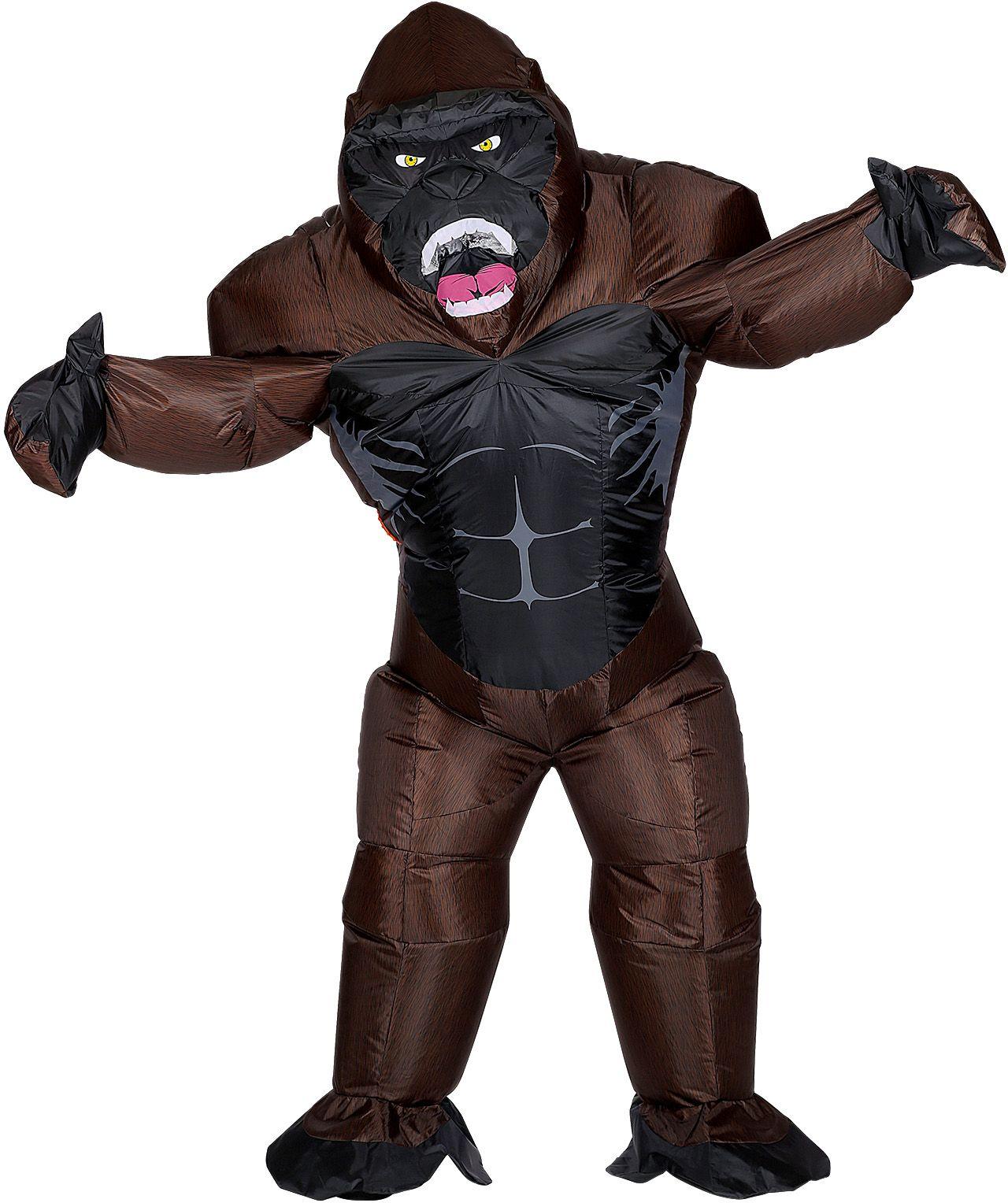 Opblaasbaar gorilla kostuum