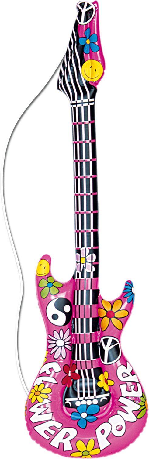 Opblaasbaar hippie gitaar