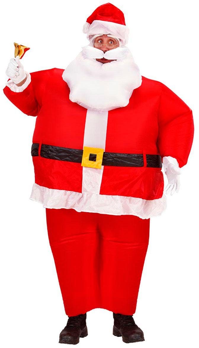 Opblaasbaar kerstman kostuum
