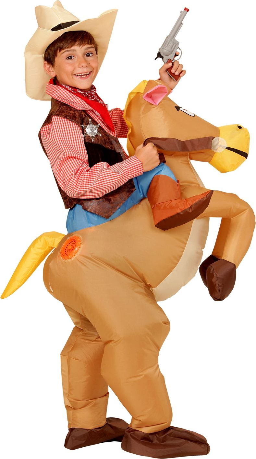 Opblaasbaar paard kostuum kind