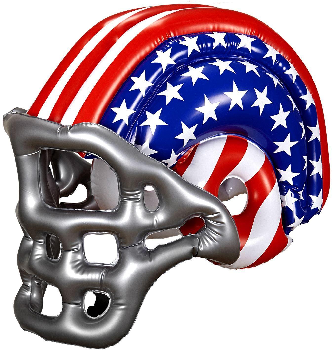 Opblaasbare American Football helm kind