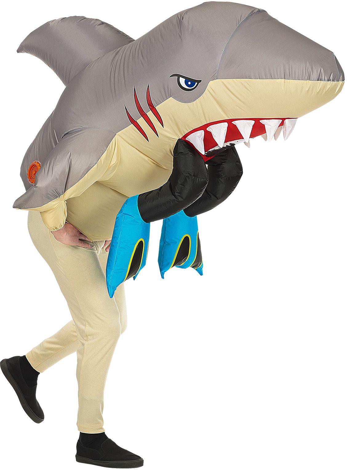 Opblaasbare haai kostuum