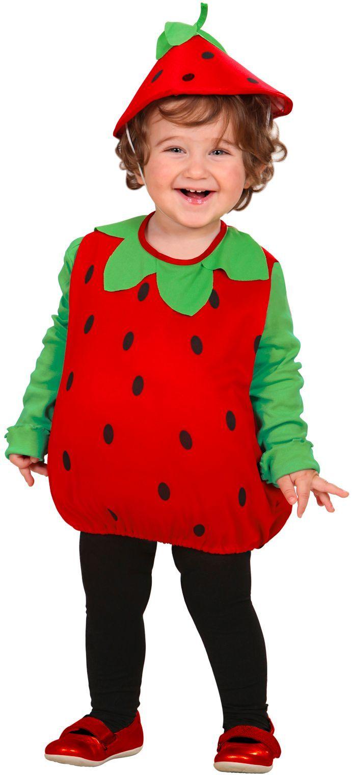 Opgevuld aardbeien kostuum