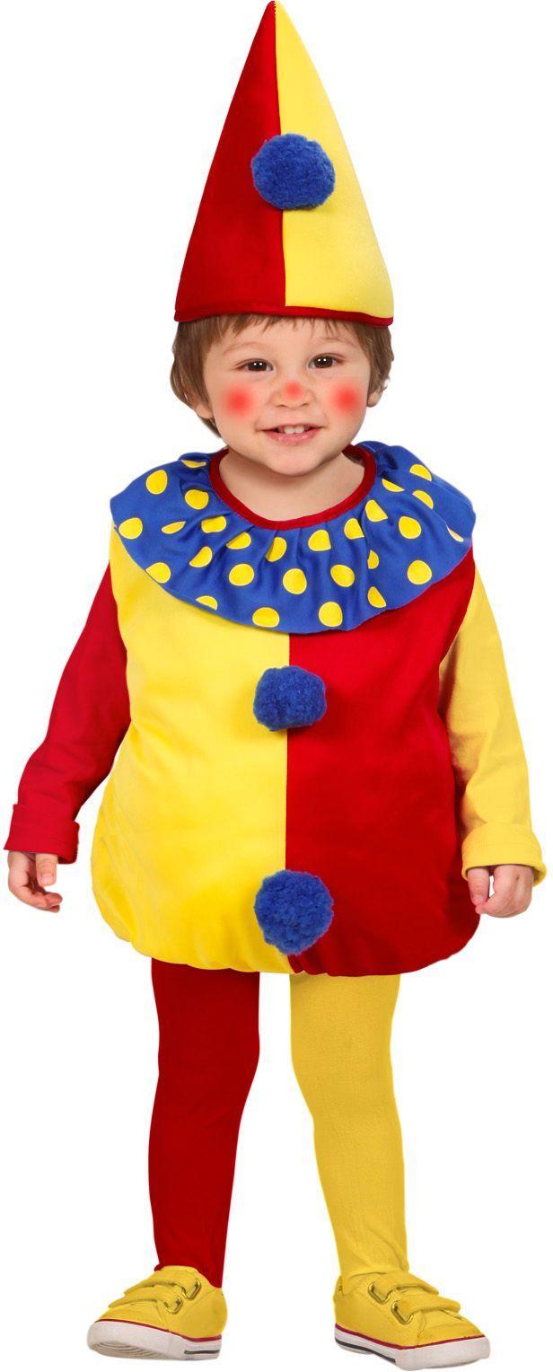 Opgevuld clowntjes kostuum