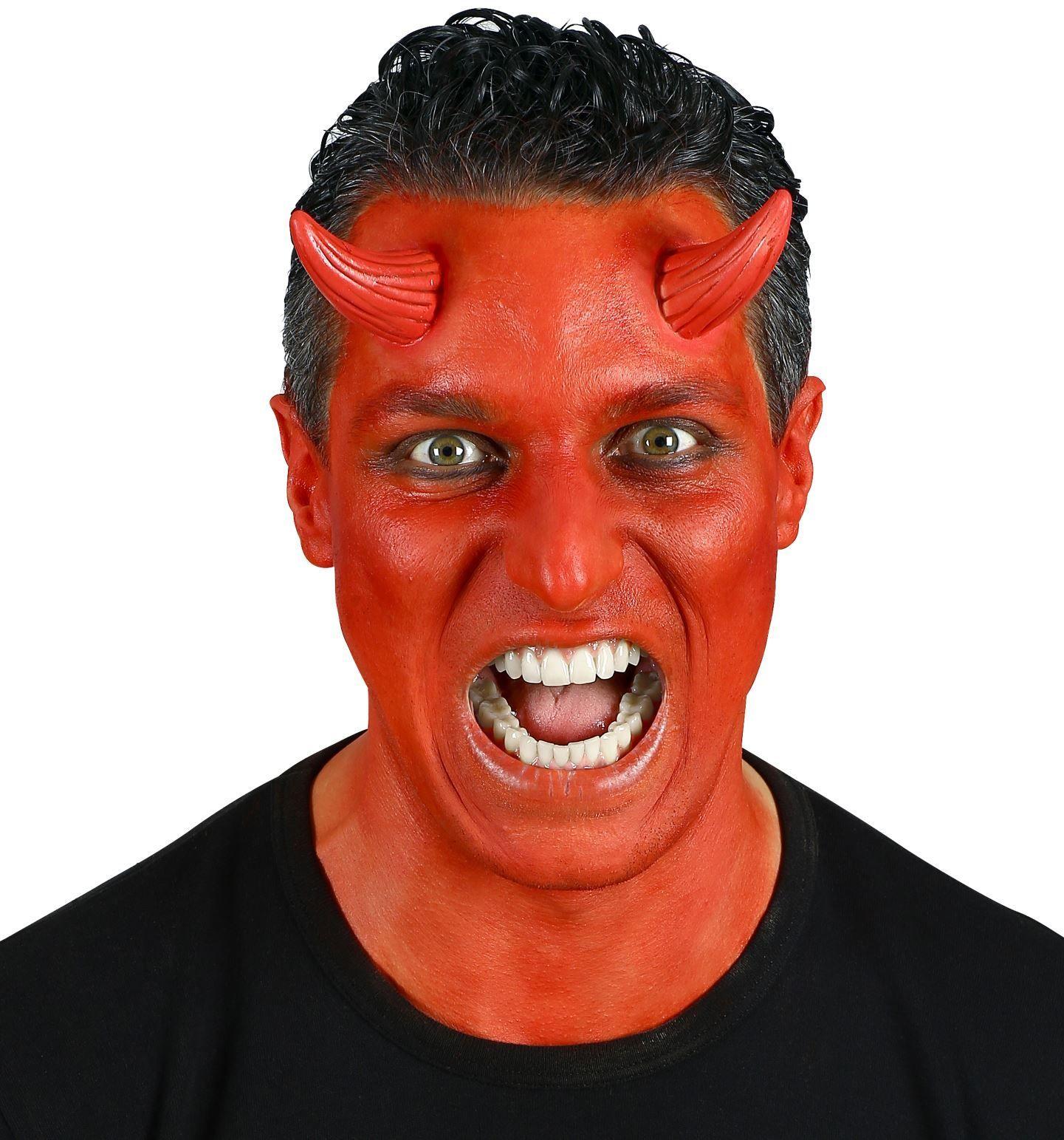 Opplakbare rode duivel hoorntjes
