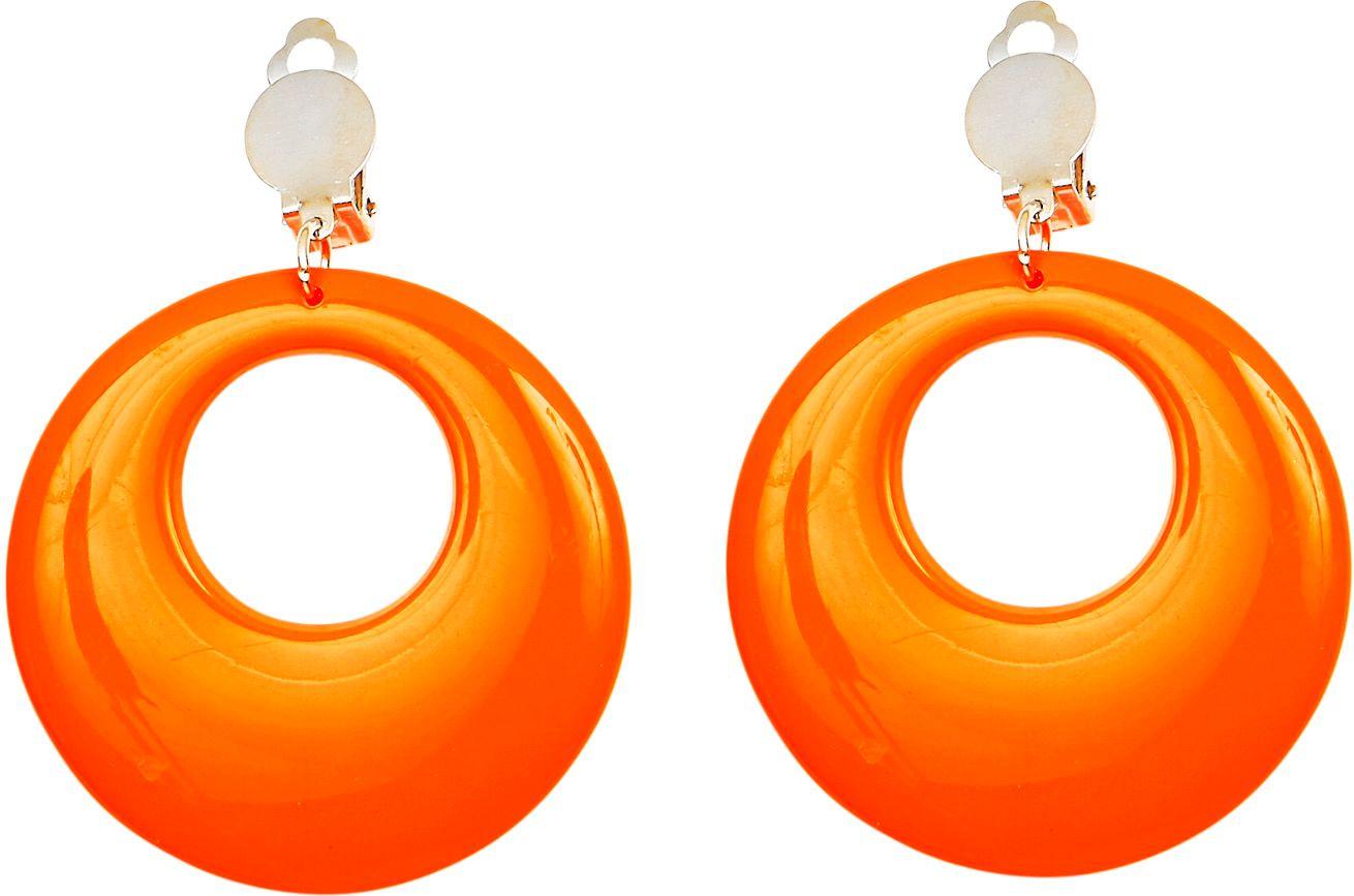 Oranje 80s oorringen