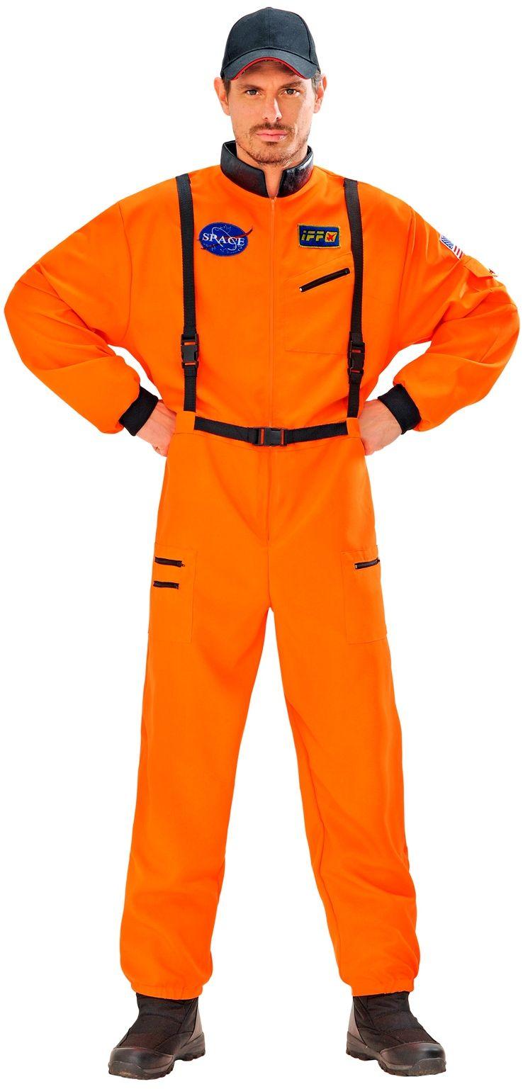 Oranje astronaut pak