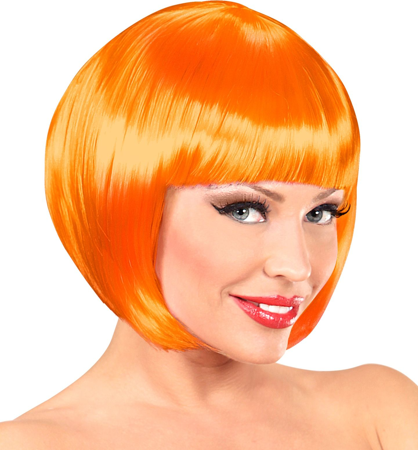 Oranje boblijn pruik