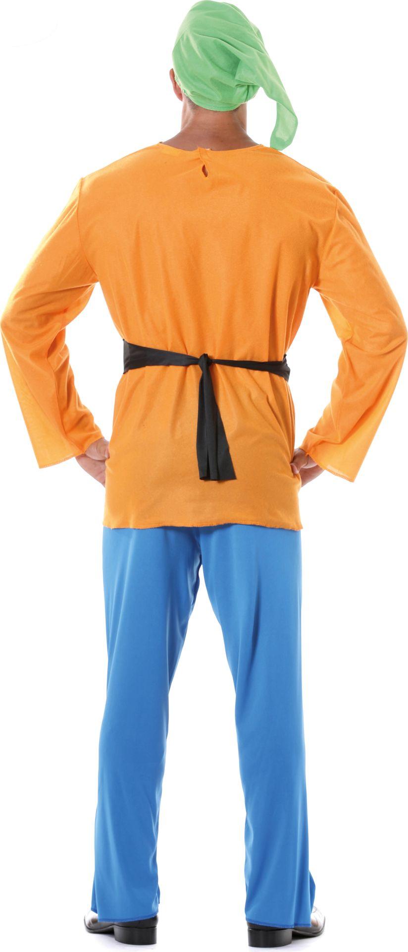 Oranje dwerg kostuum