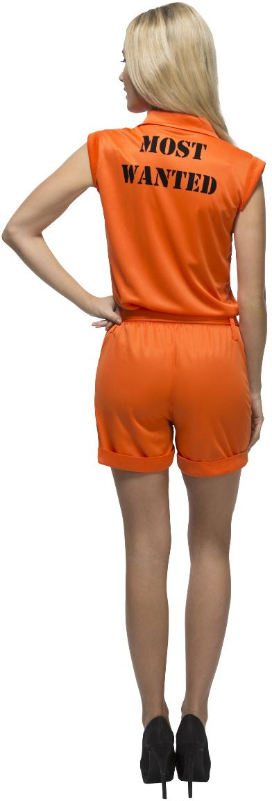 Oranje gevangenis kostuum dames