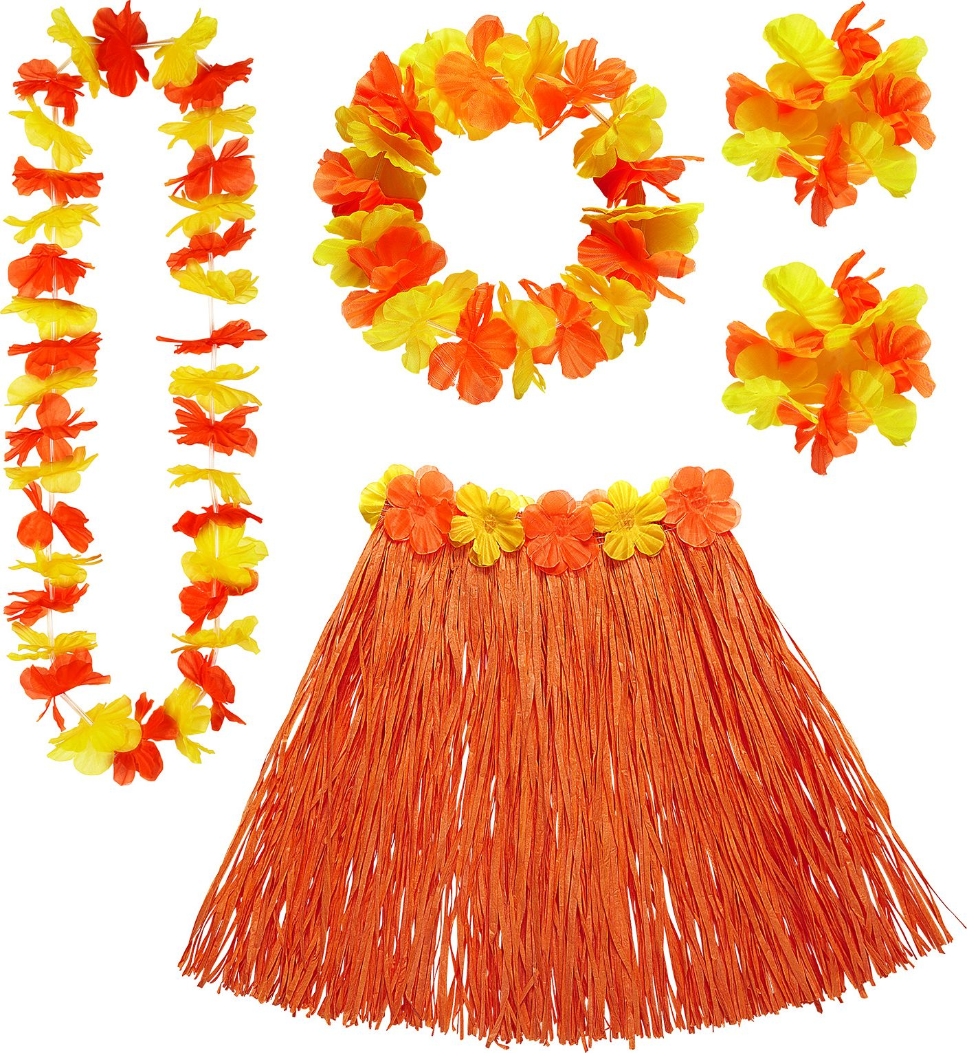 Oranje Hawaii set