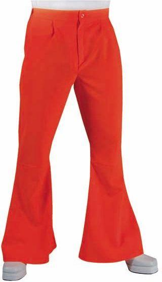 Oranje hippie broek heren
