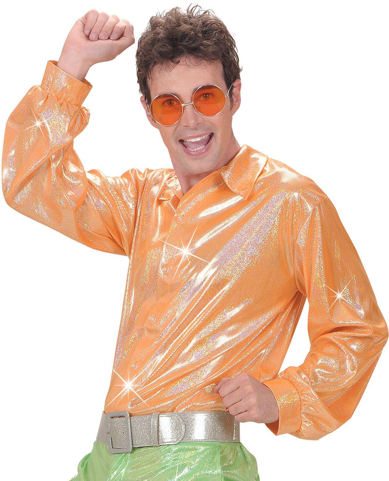 Oranje holografisch shirt