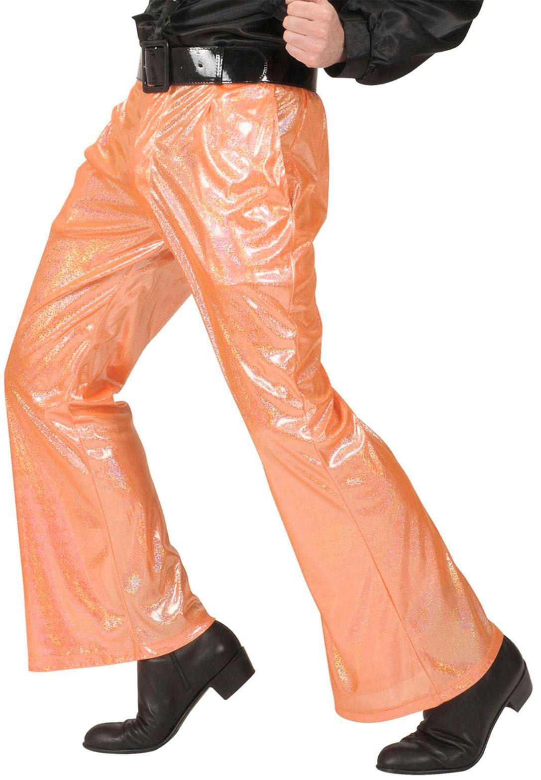 Oranje holografische broek