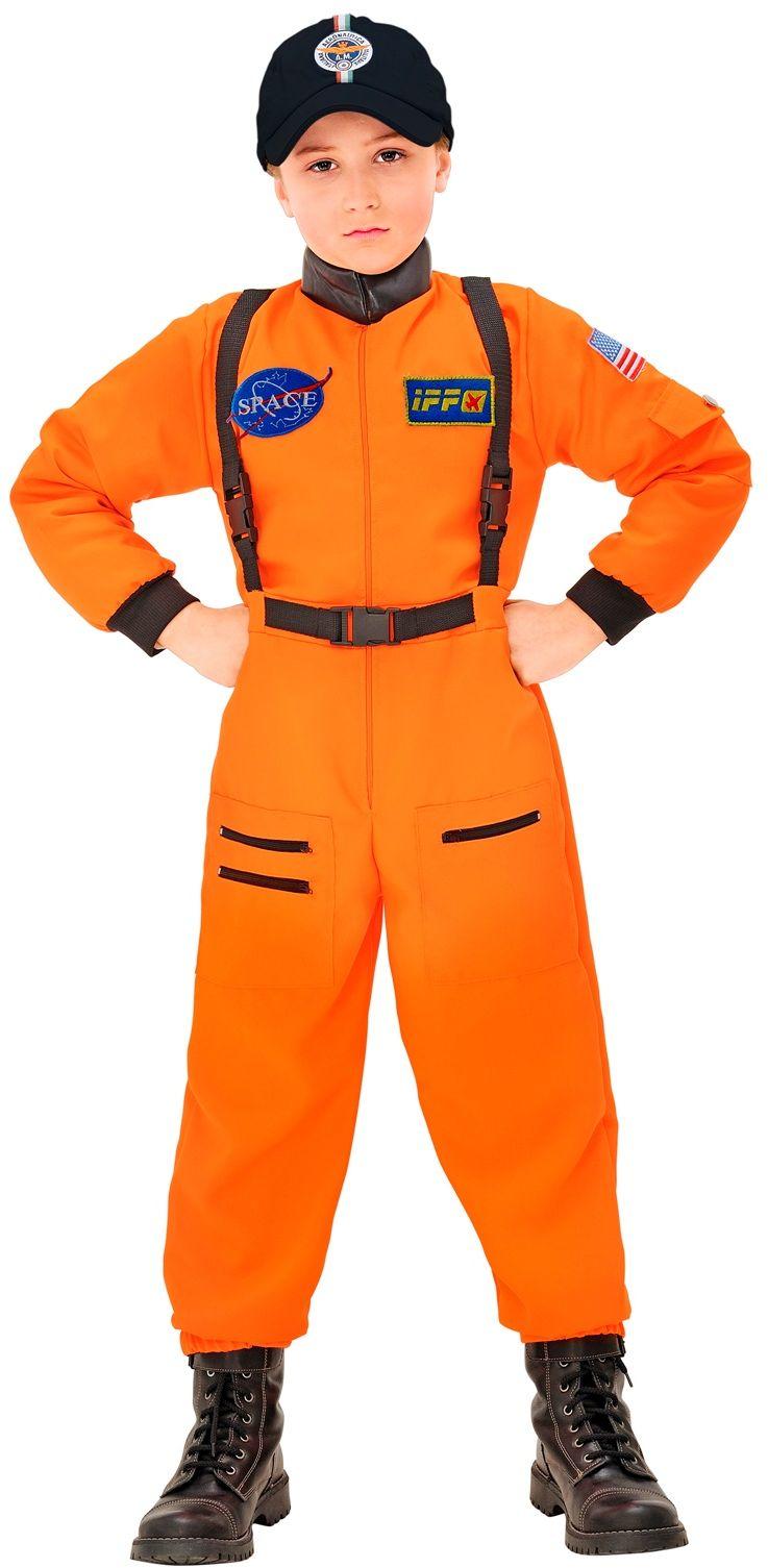 Oranje jonge astronaut