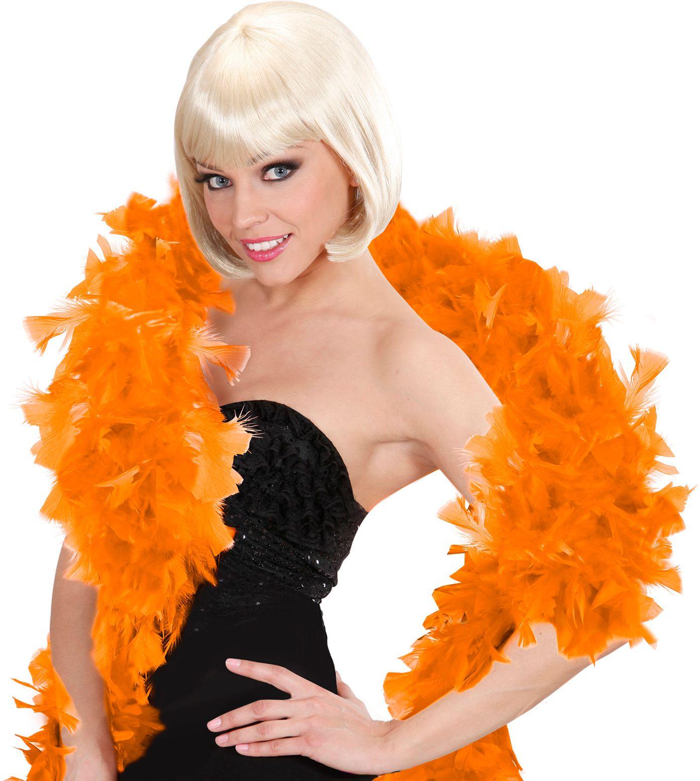 Oranje luxe boa