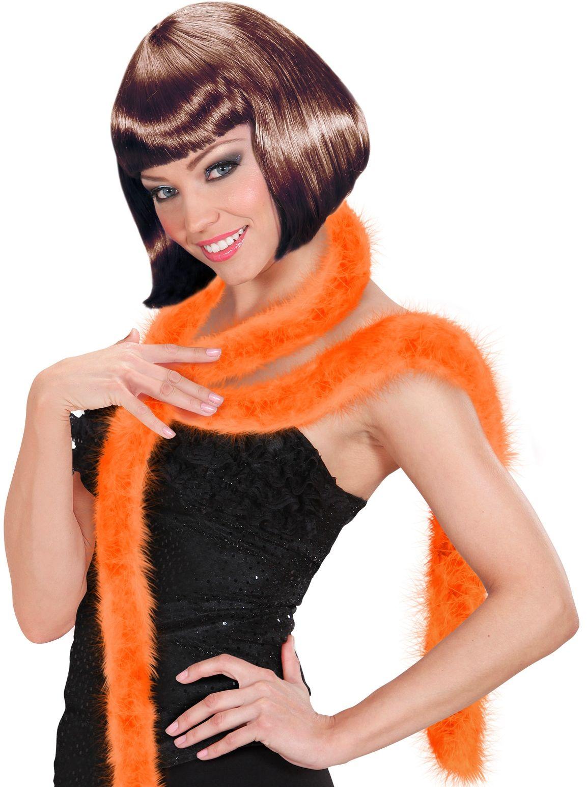 Oranje marabou boa