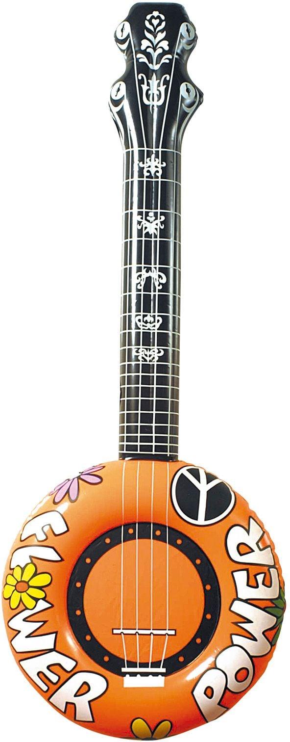 Oranje opblaasbare banjo