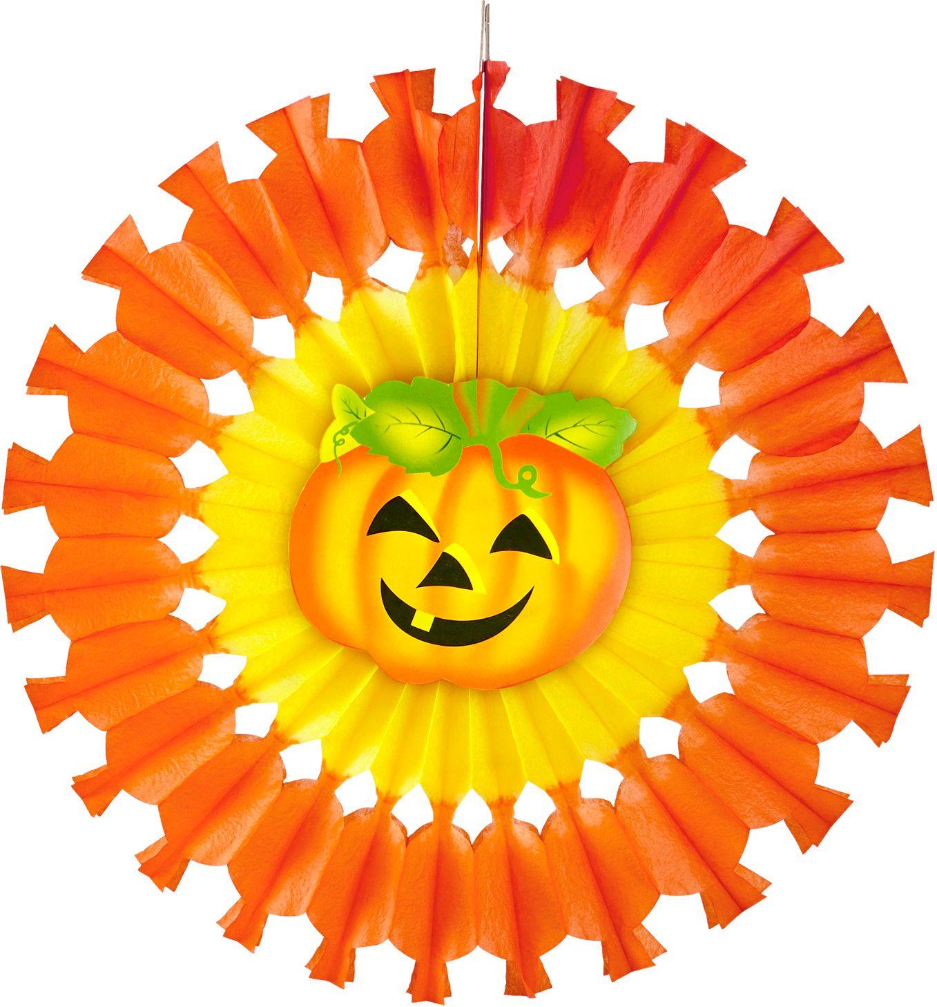 Oranje pompoen waaier