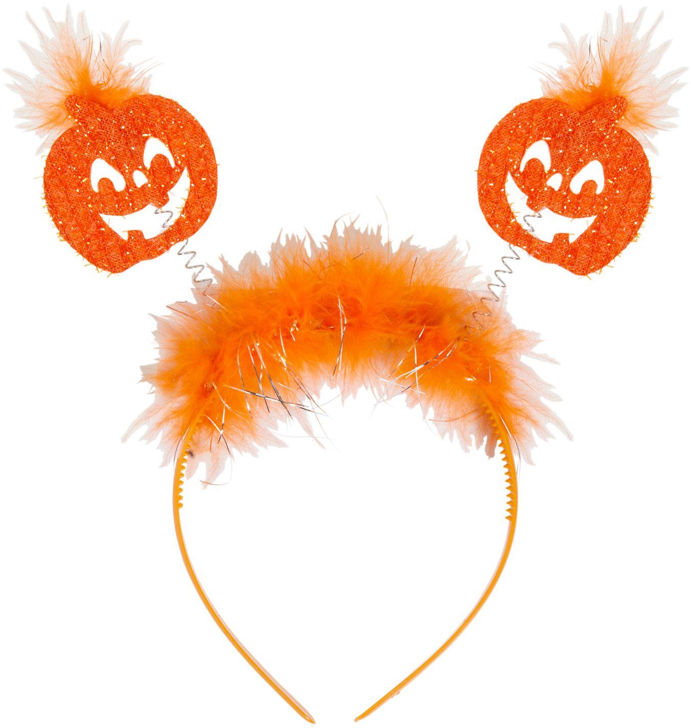 Oranje pompoenen hoofdband