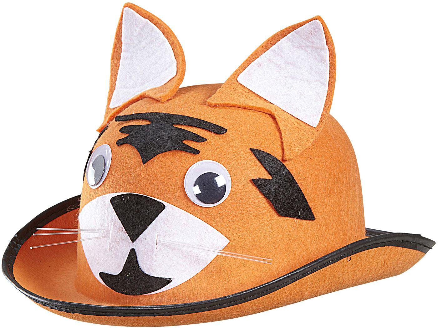 Oranje tijger bolhoed
