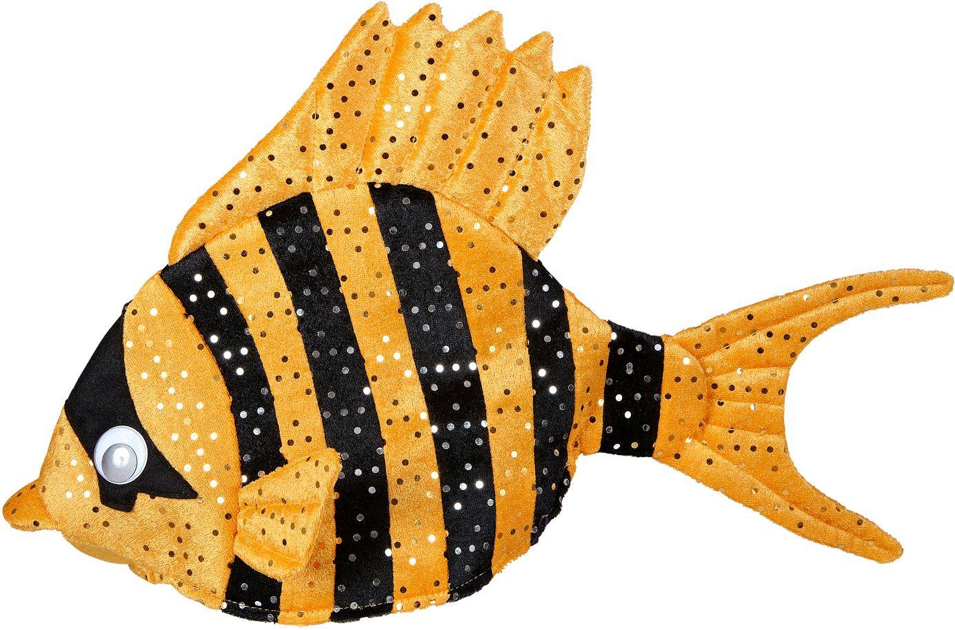 Oranje tropische vis hoed