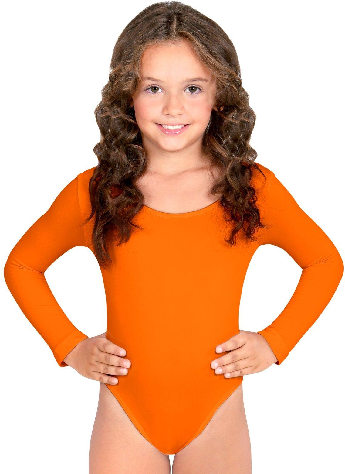 Oranje turnpak meisjes