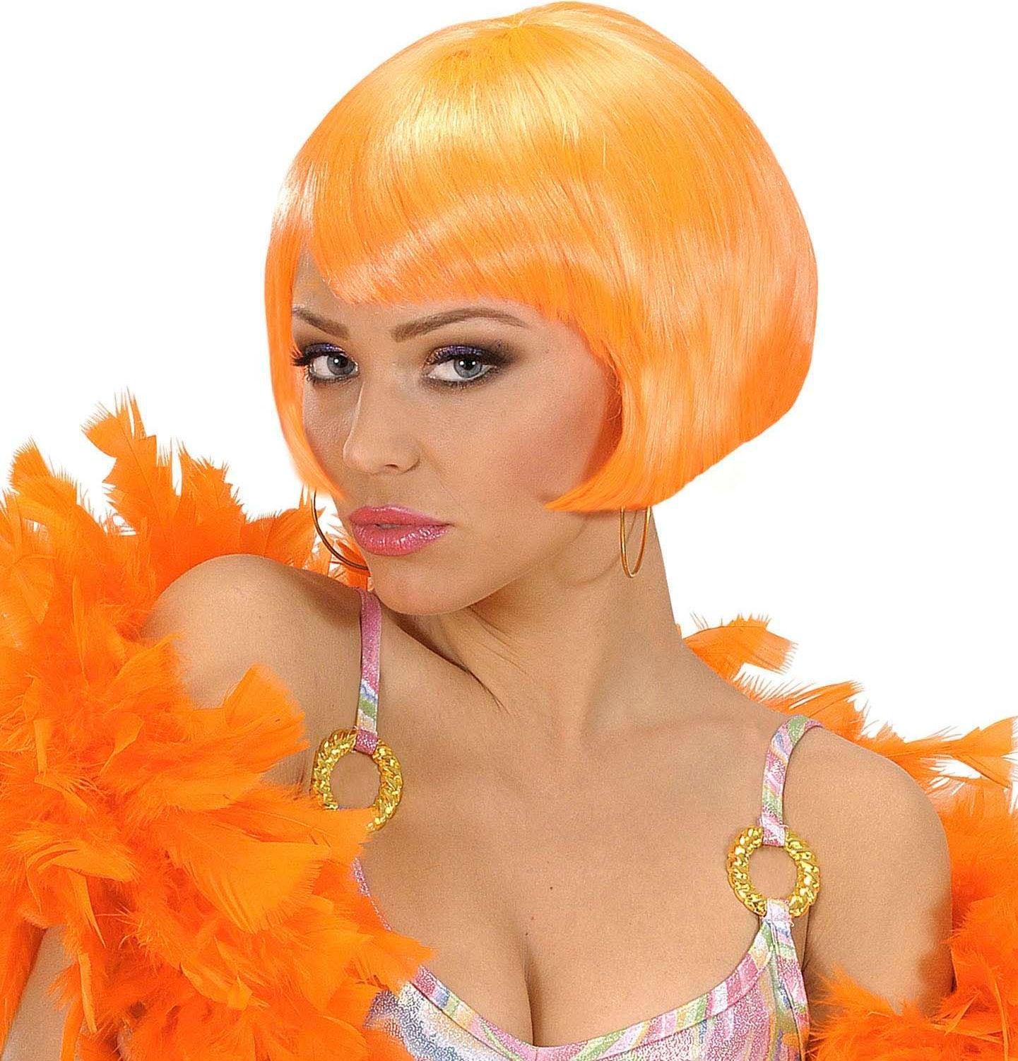 Oranje valentina pruik