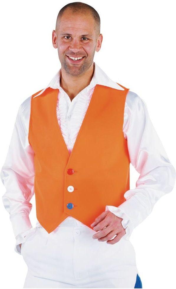 Oranje vestje mannen