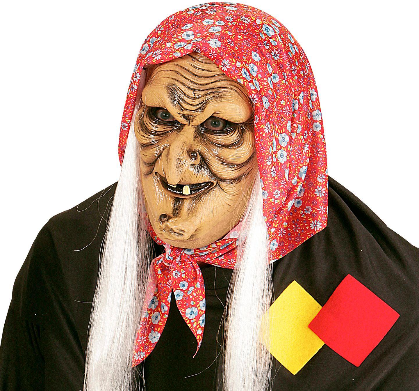 Oude heks masker