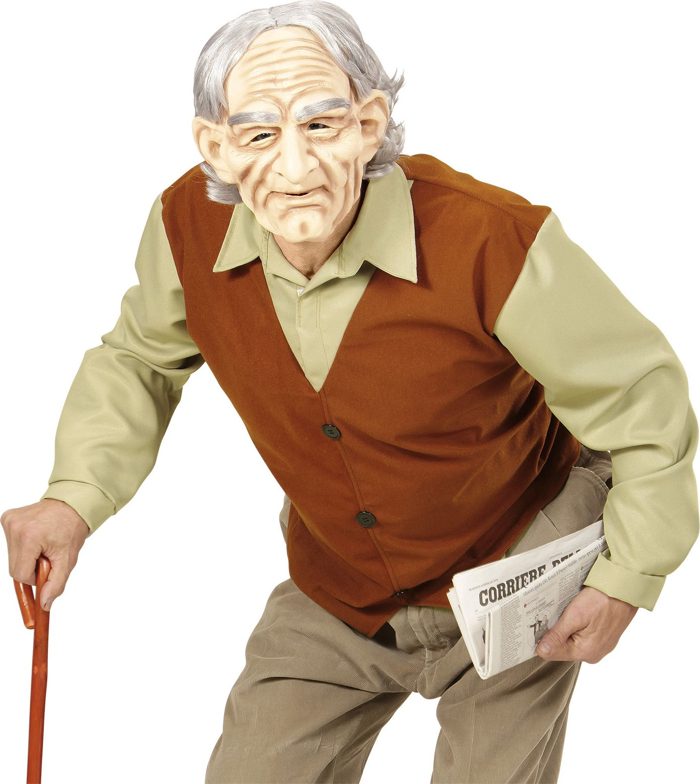 Oude man kostuum