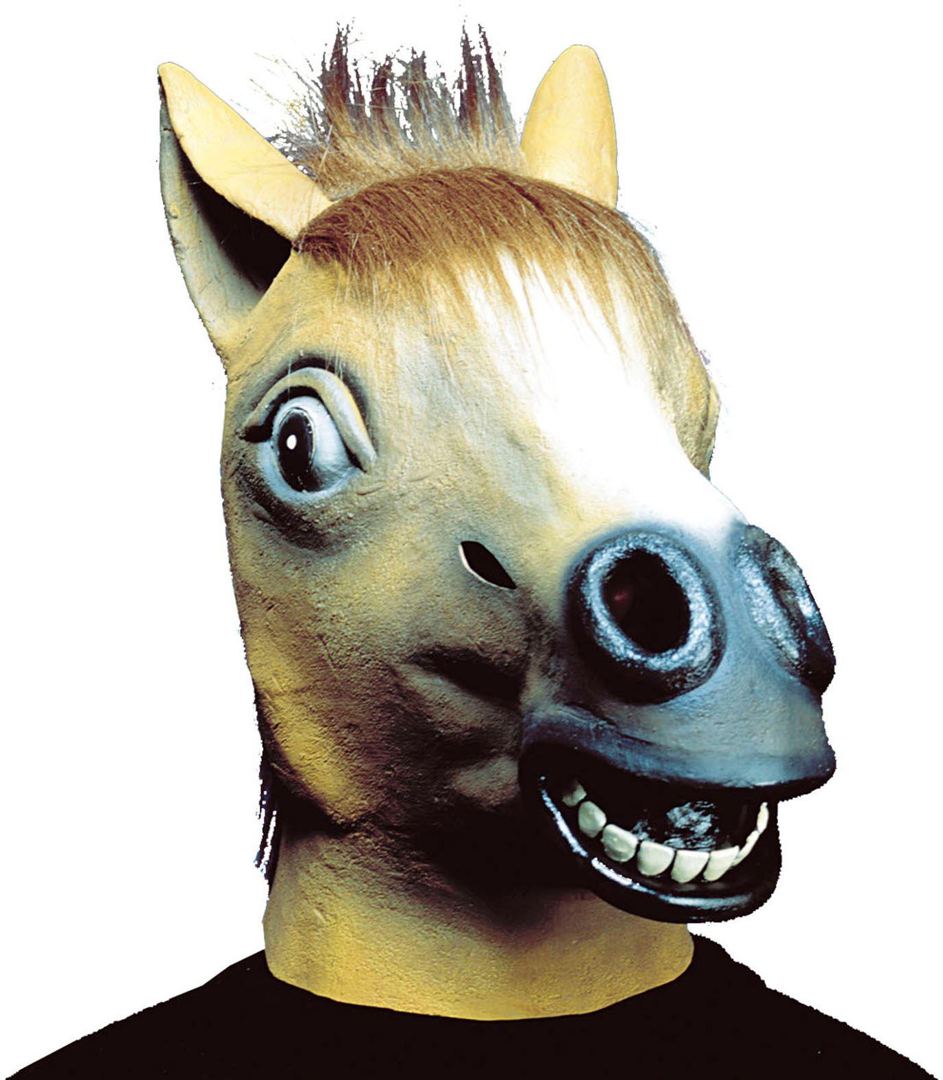 Paarden masker bruin