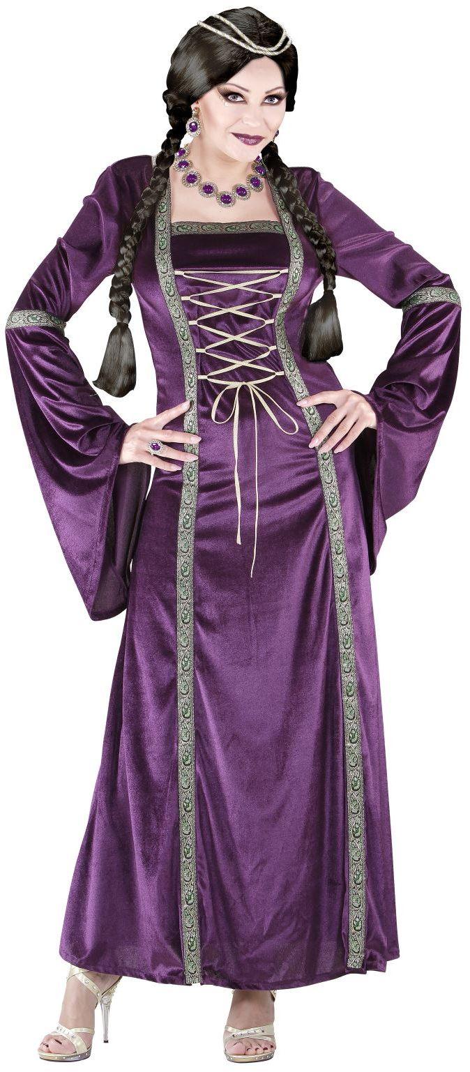 Paars middeleeuws jurk