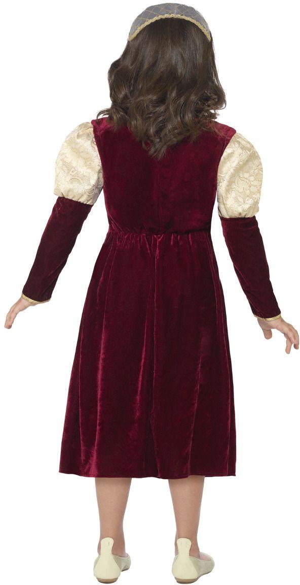 Paars victoriaans meisjes outfit