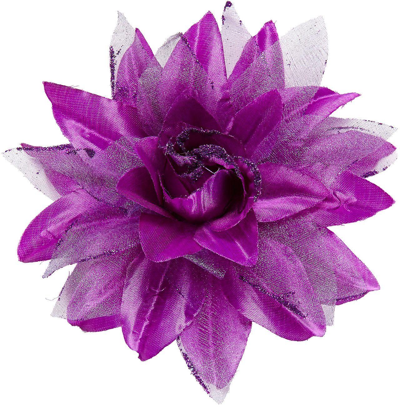 Paarse bloem haarclip