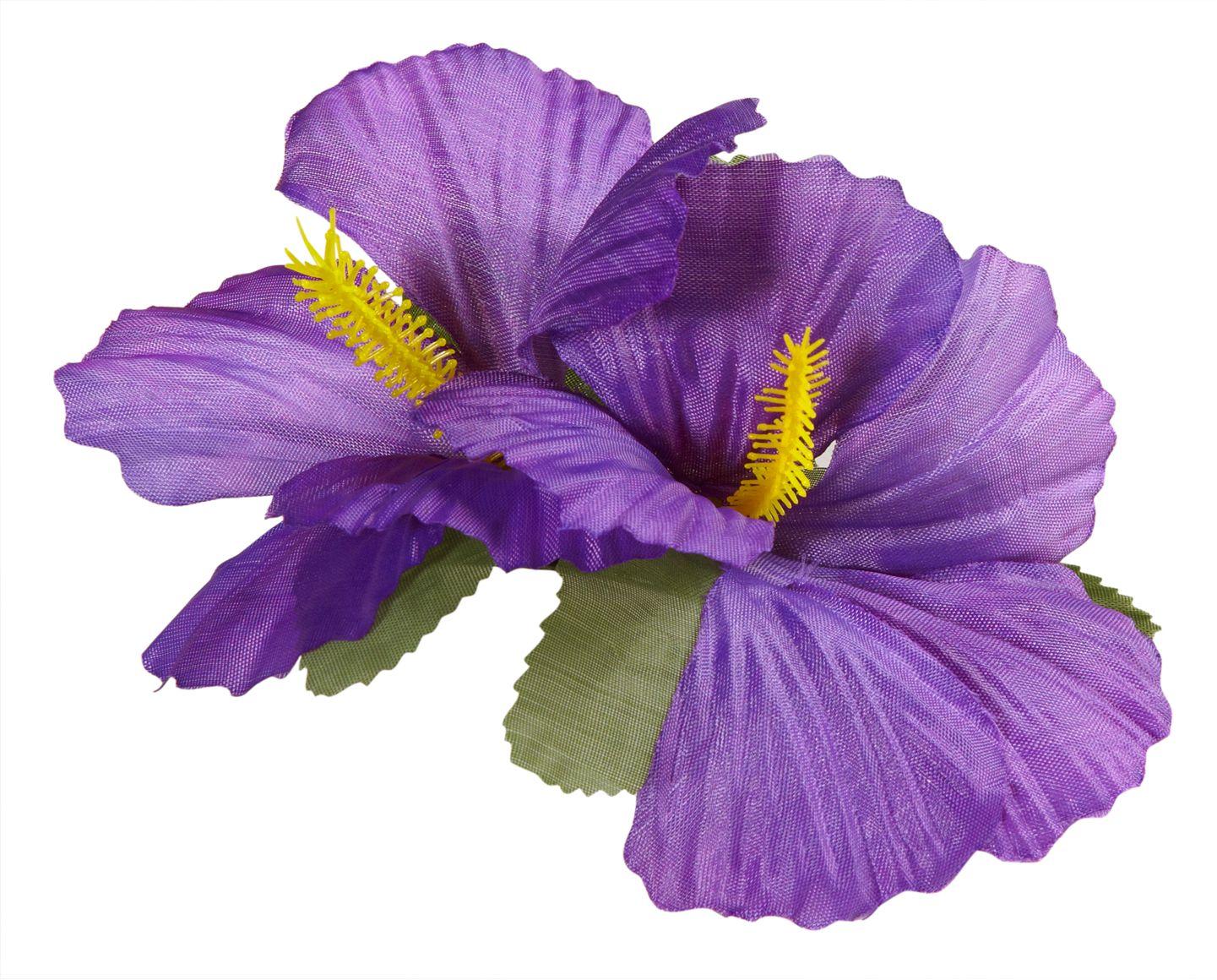 Paarse bloemen haarclip